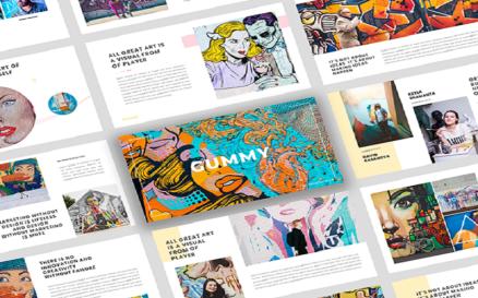 Gummy - Creative Art PowerPoint Template