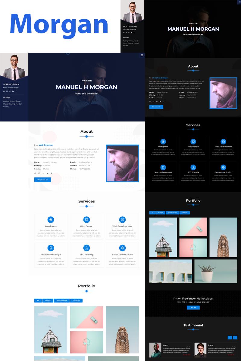 Morgan -Portfolio Landing Page Template