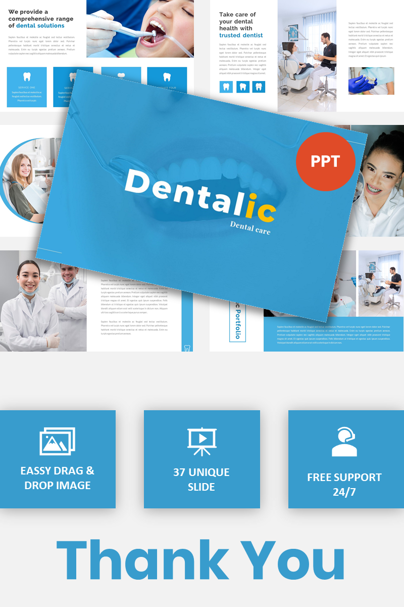 Dentalic - Dental Care PowerPoint Template