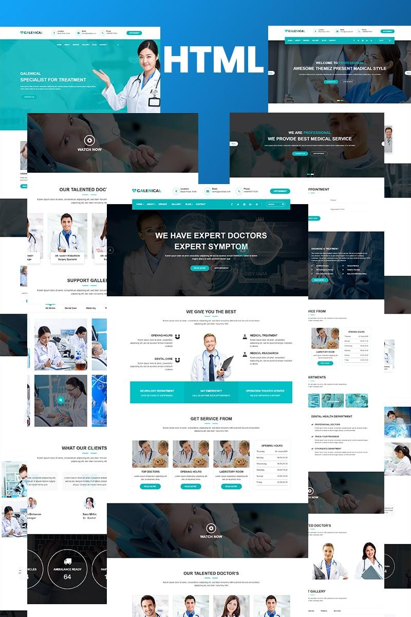 """Gmadical - Medical & Health Service HTML5"" - Шаблон сайту №97400"