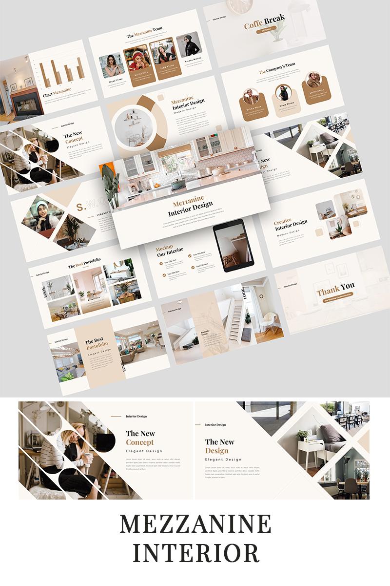"Plantilla PowerPoint ""Mezzanine - Interior Presentation"" #97458"