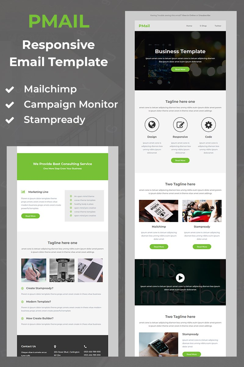 Pmail - Responsive Email Newsletter Template - screenshot
