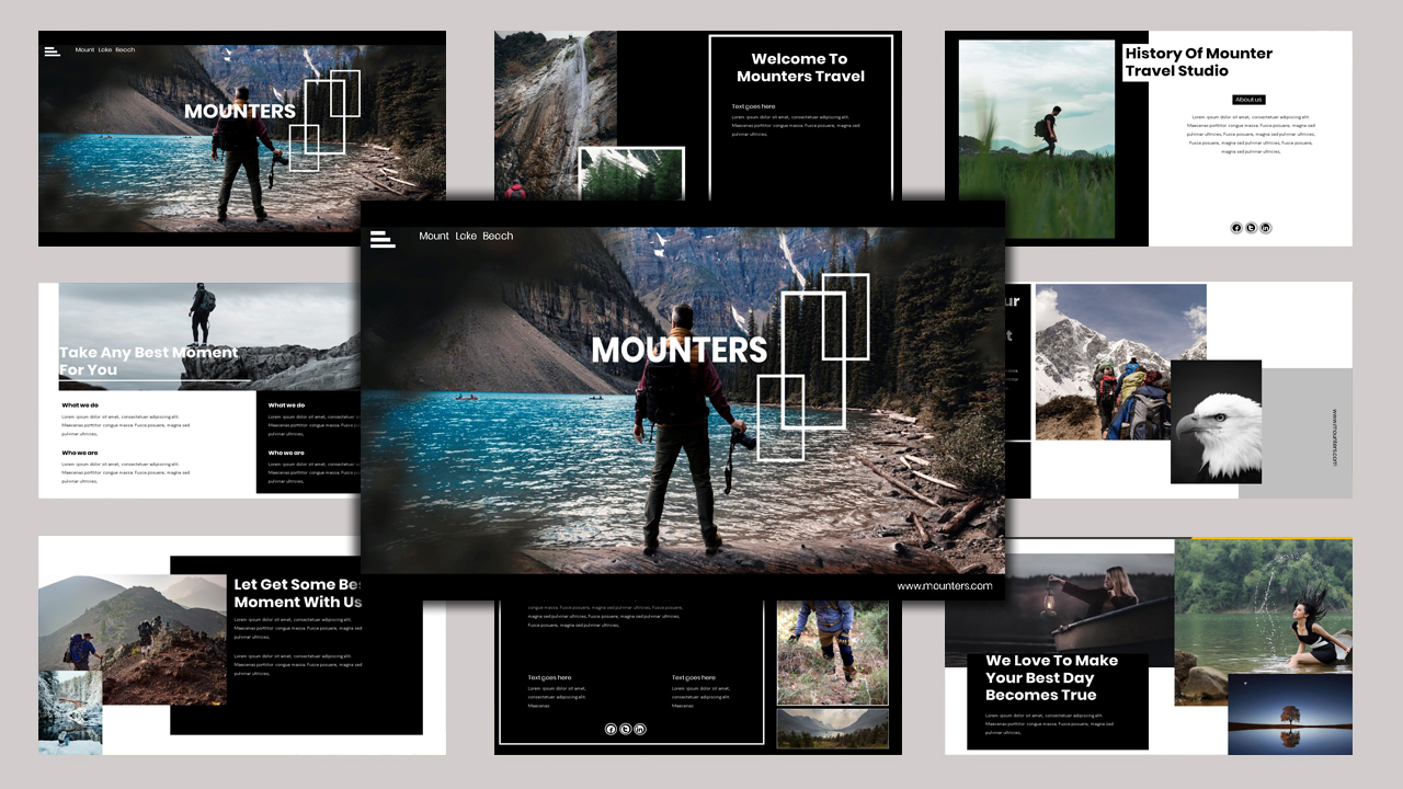 "PowerPoint Vorlage namens ""Mounter - Creative Business"" #97474"