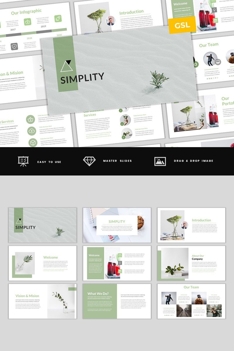 Simplity - Simple & Modern Business Google Slides Template #97484