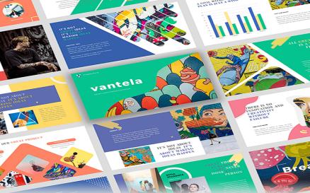 Vantela - Pop Art & Grafitti PowerPoint Template