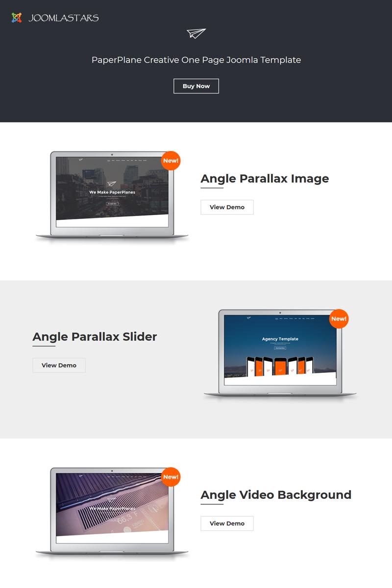 Paperplane - Creative OnePage Joomla Template