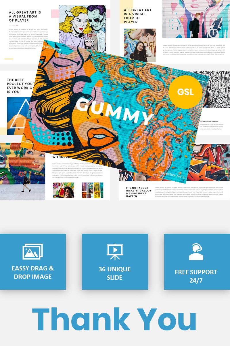 Gummy - Creative Art Google Slides