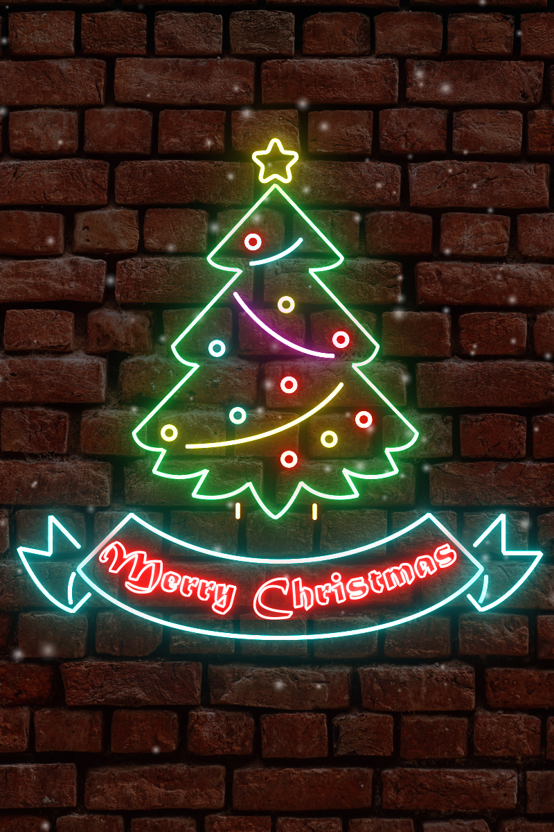 Neon Light Christmas Card After Effects Intro - screenshot