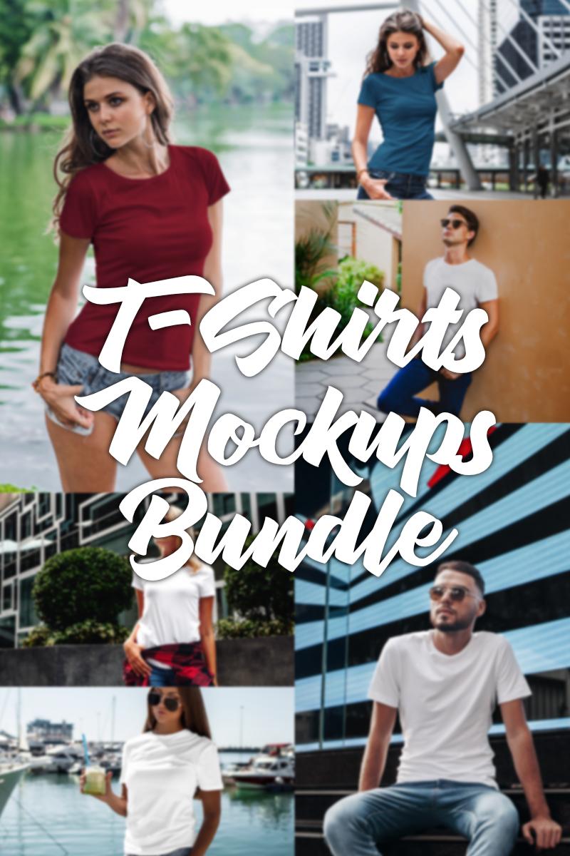 Over 100 Premium Mockups Bundle T-shirt #97526