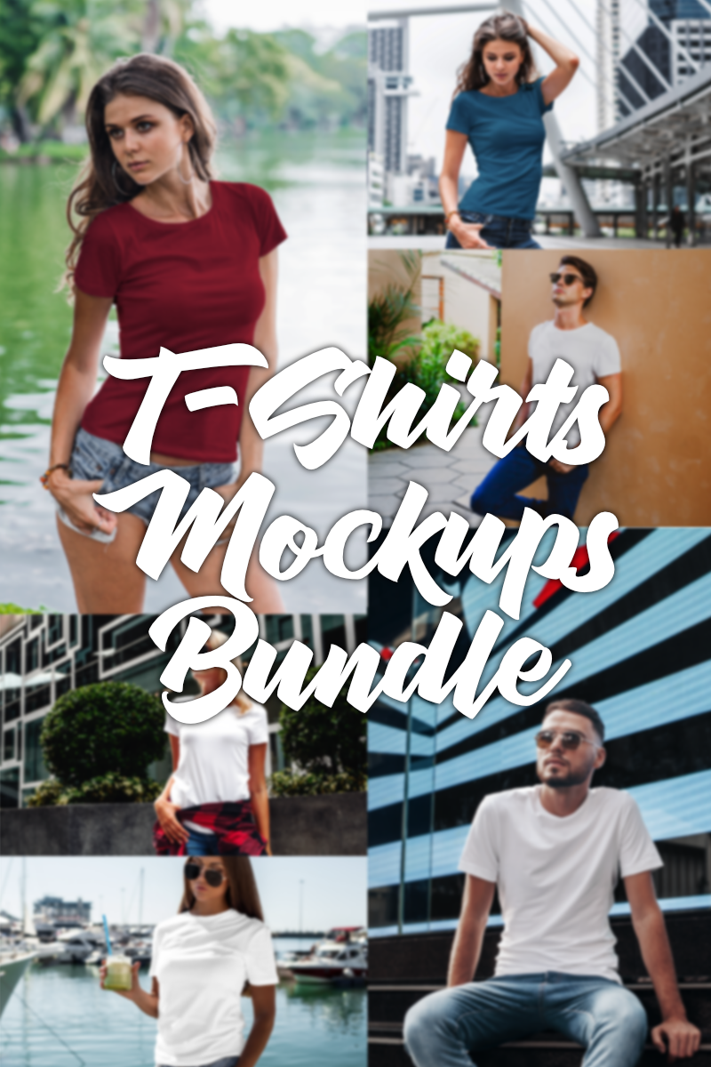 Over 100 Premium Mockups Bundle T-shirt №97526