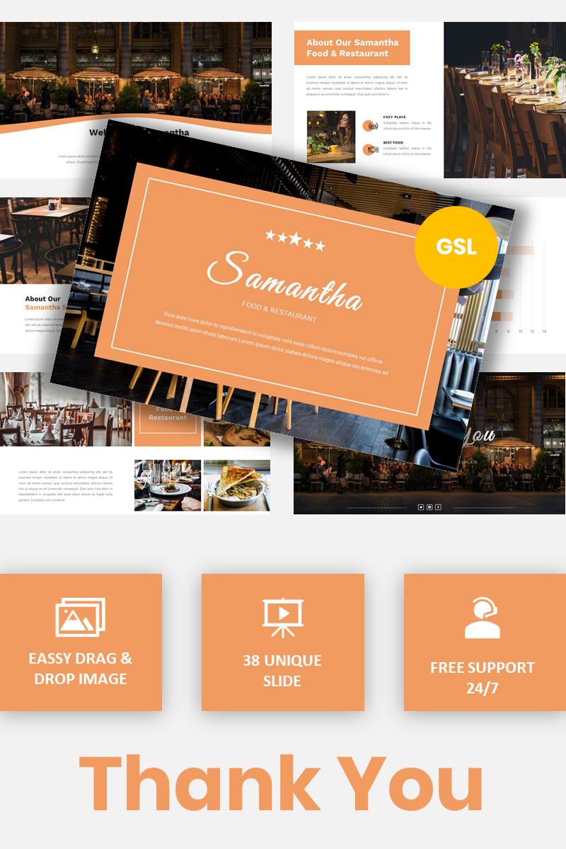 Samantha - Food & Restaurant Google Slides