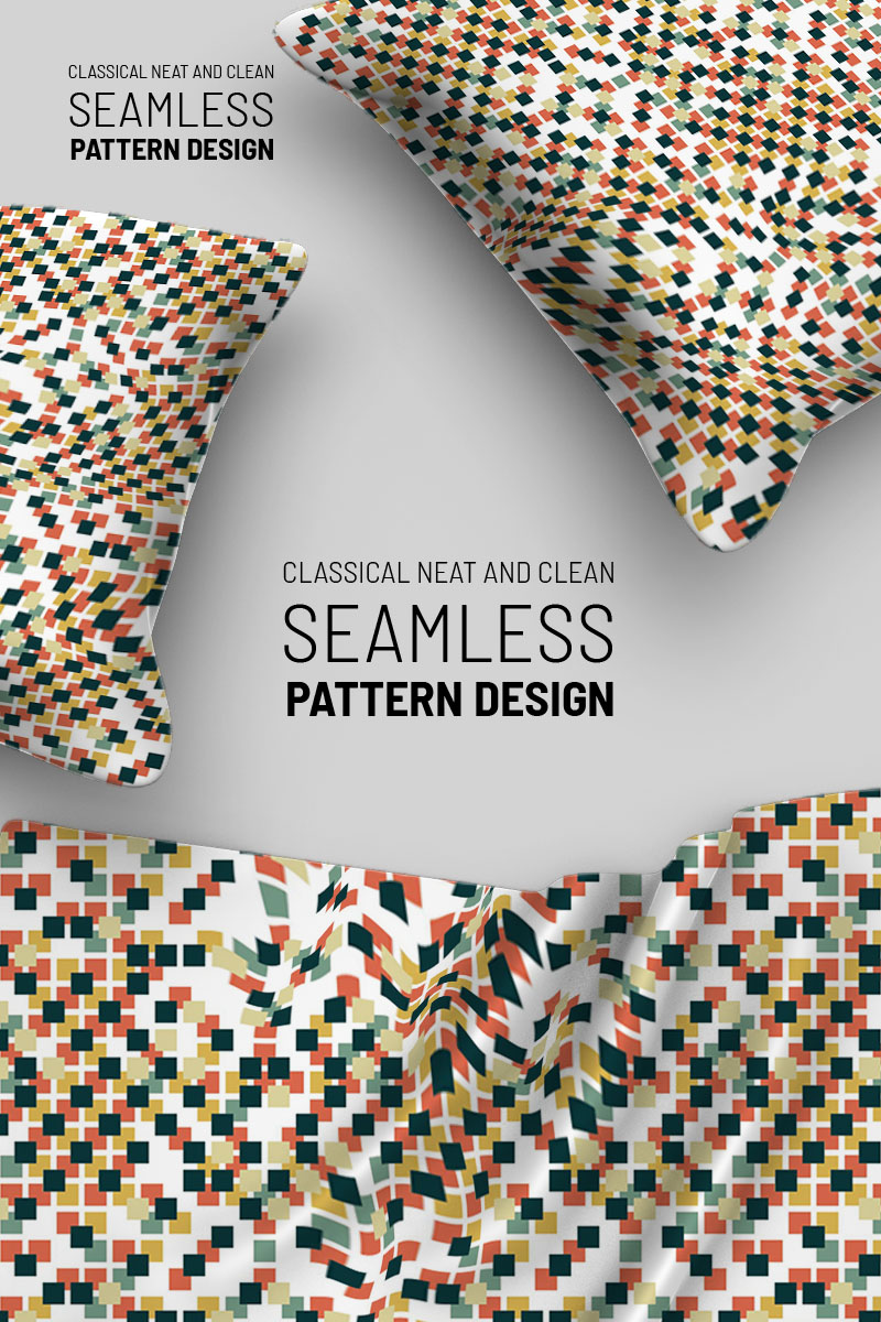 Scattered Cubic Dots Pattern
