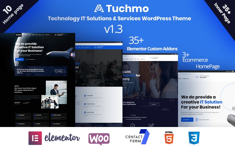 Tuchmo - Technology IT Solutions  Services WooCommerce Theme - screenshot