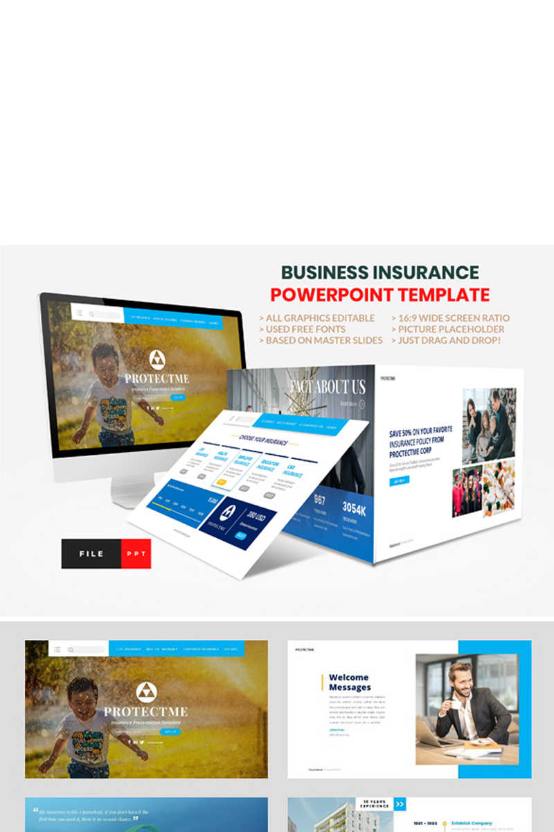 """PowerPoint Vorlage namens """"Insurance - Business Consultant"""" #97689"""