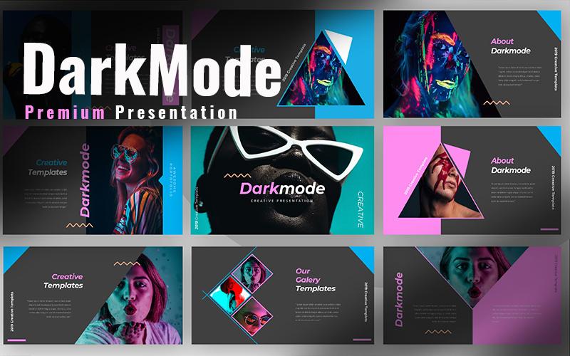 """Dark Mode Creative"" Responsive Google Slides №97717"