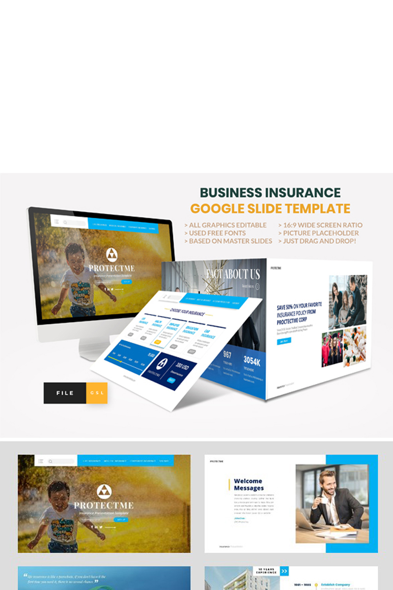 Insurance - Business Consultant Google Slides