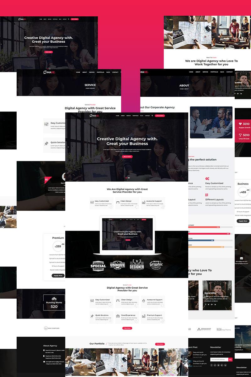 """Maxz - Corporate"" thème WordPress adaptatif #97750"