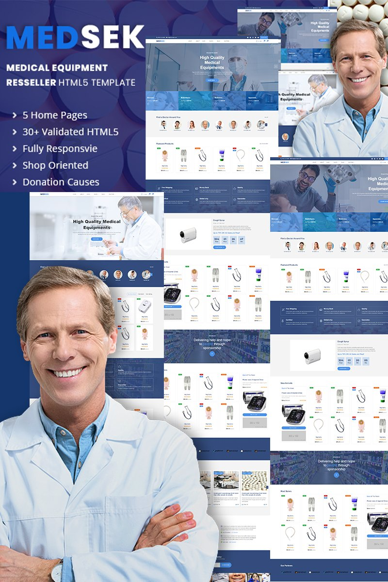 Medsek |  Medical Equipment Res-seller HTML5 Website Template