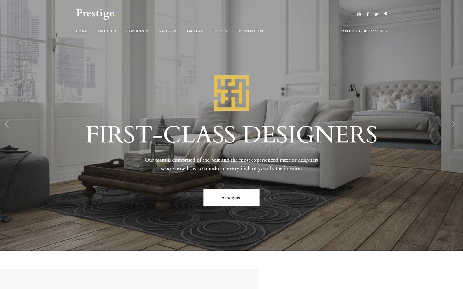 """Prestige - Interior Design Studio"" Responsive Website template №97744"