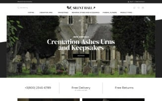 Silent Hall - Funeral Services eCommerce Template Magento Theme