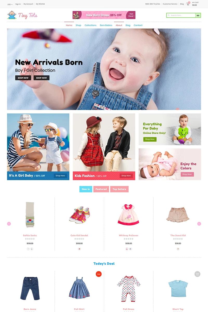 TinyTots - Kids & Baby Shopify-tema #97753