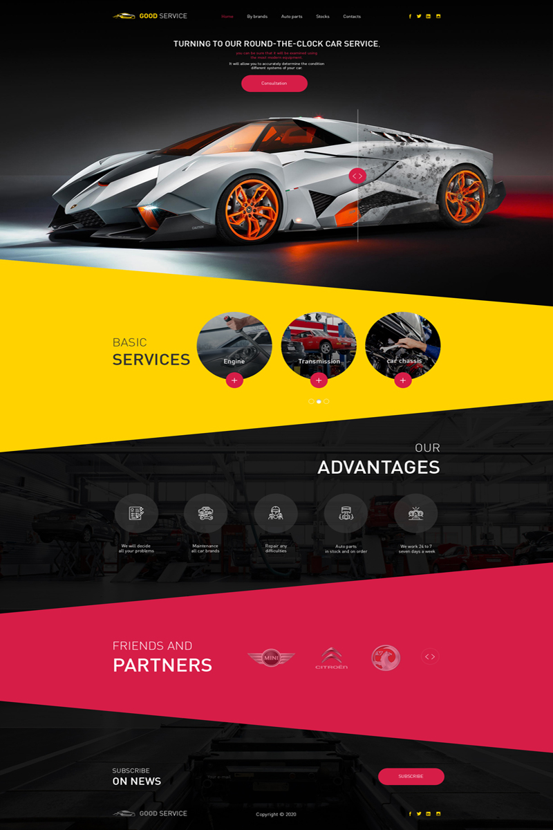 Car Service PSD Template