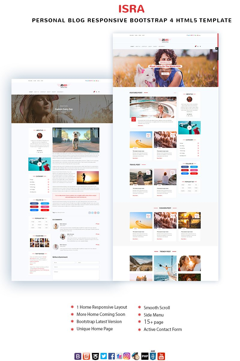 ISRA - Personal Blog Website Template