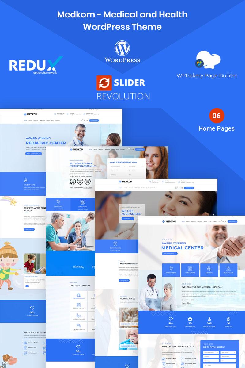 """Medkom -  Medical & Health"" thème WordPress adaptatif #97870"