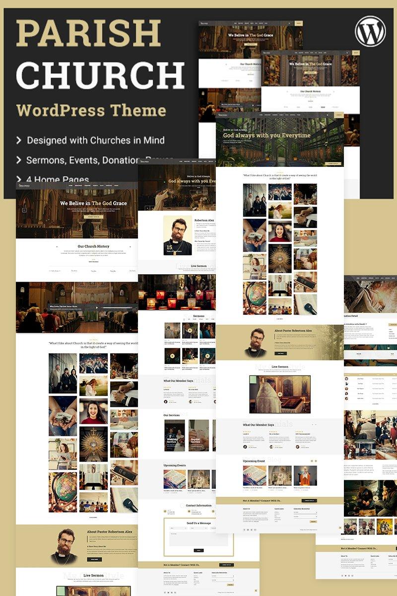 "Tema WordPress Responsive #97866 ""Parish | Church"""