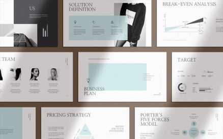 Clean & Clear Business Plan Keynote Template