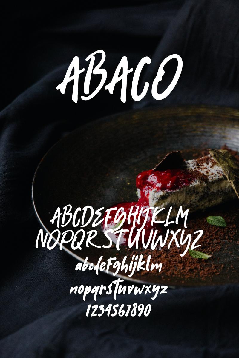 Abaco Font - screenshot