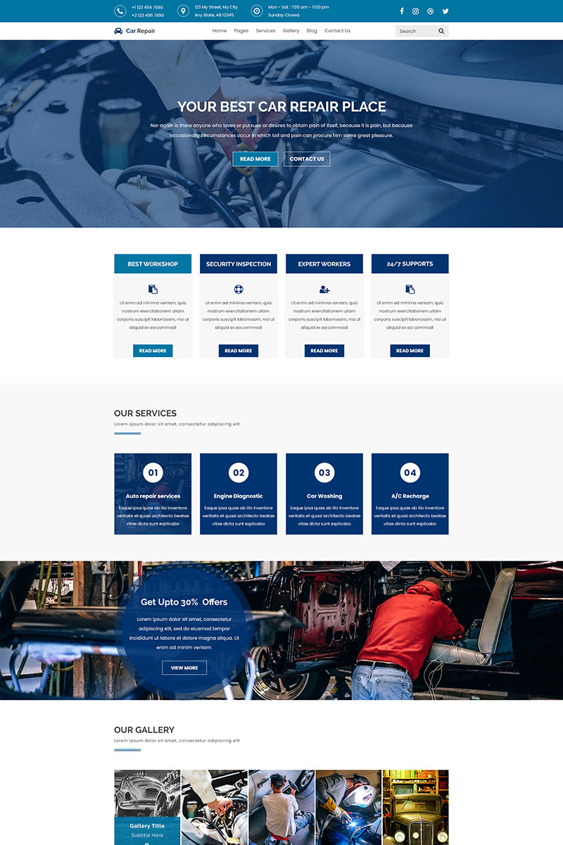 Car Repair | Maintenance PSD Template