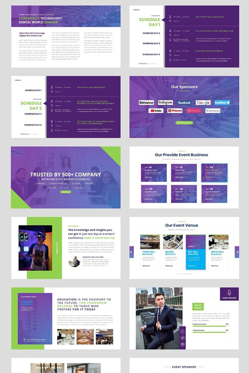 Conference - Event Seminar Business Keynote Template