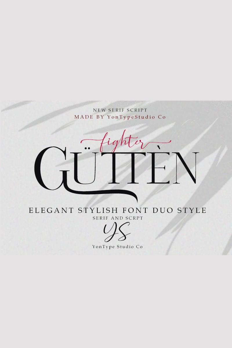 Gutten fighter Duo w/ Bonus 6 Logos Font