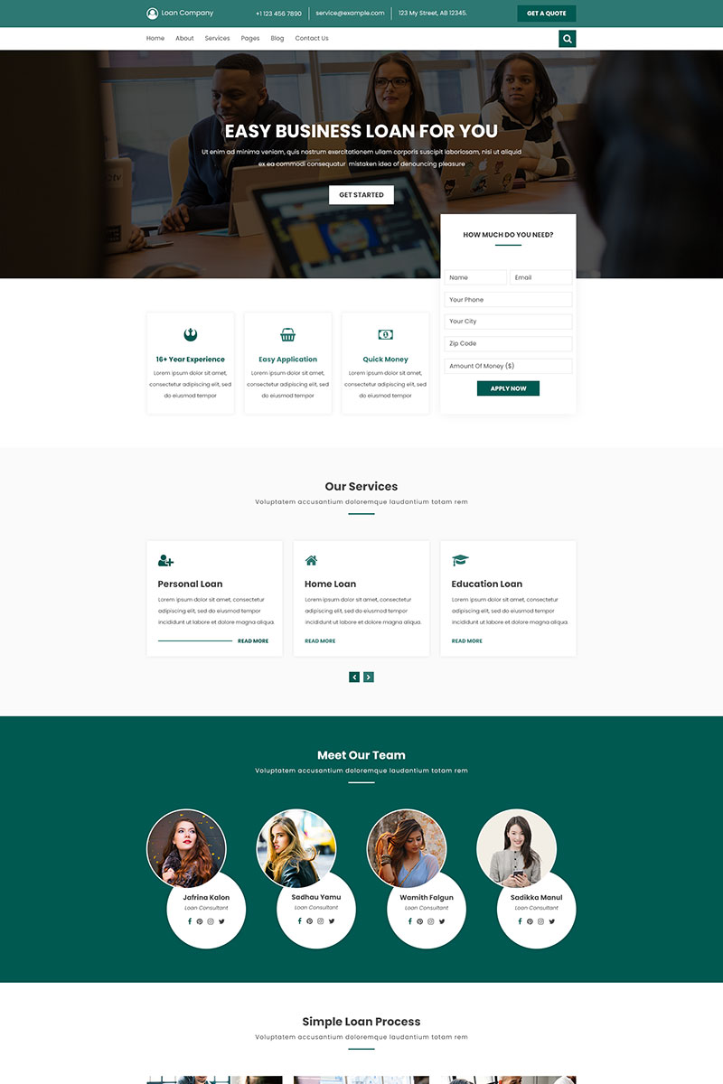 Loan PSD PSD Template