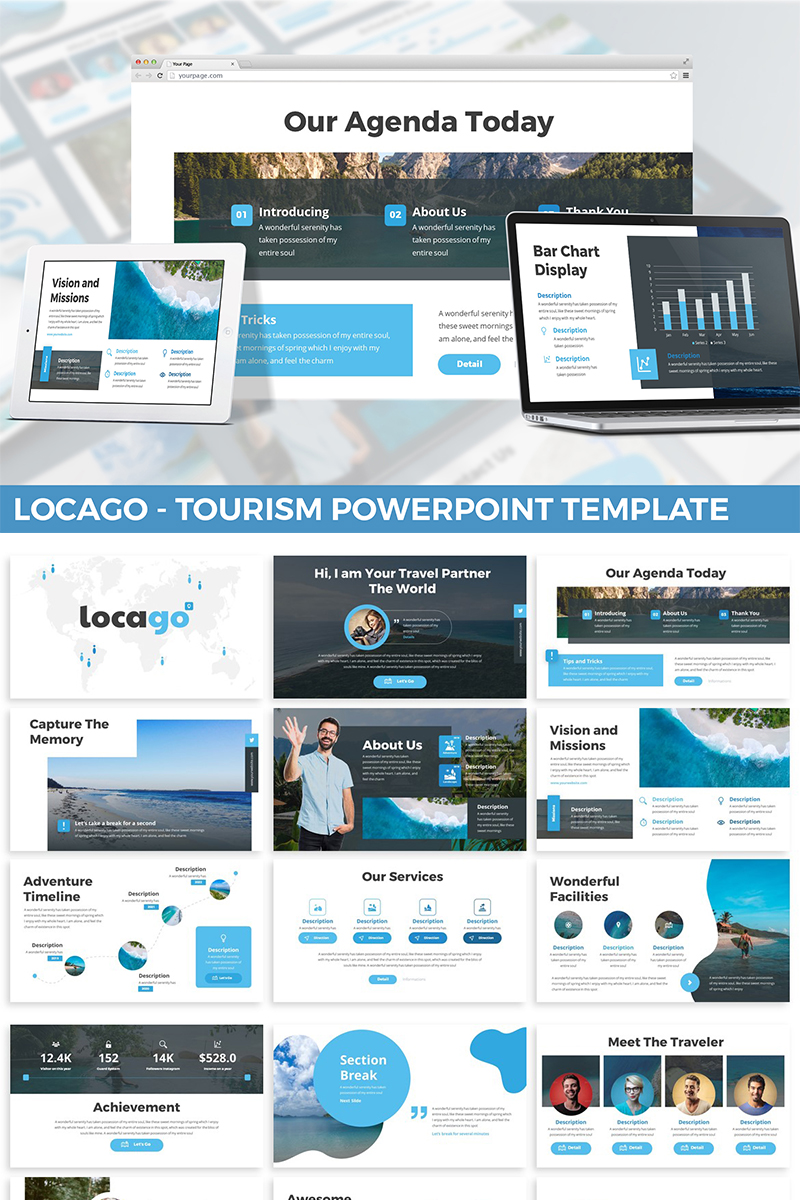 Locago - Tourism PowerPoint Template