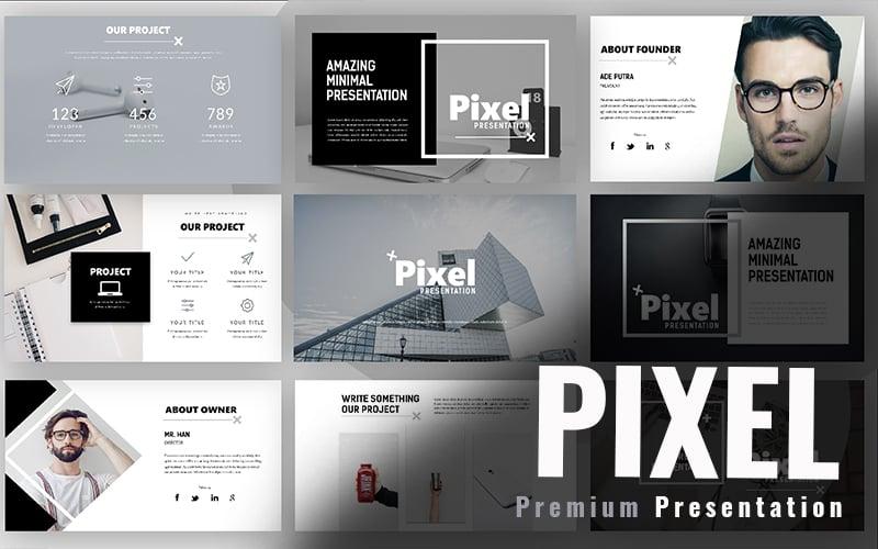 """Pixel Minimal"" google Slides adaptatif #97971"
