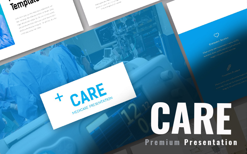 "Template Google Slides Responsive #97939 ""Care Medical"""