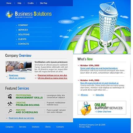 Многостраничный шаблон для сайта (9853)