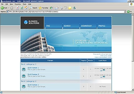 PHPBB main page preview