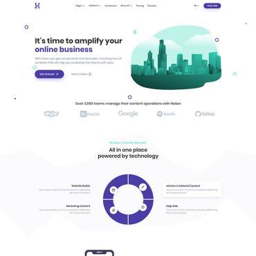 Купить  пофессиональные Bootstrap и html шаблоны. Купить шаблон #98023 и создать сайт.