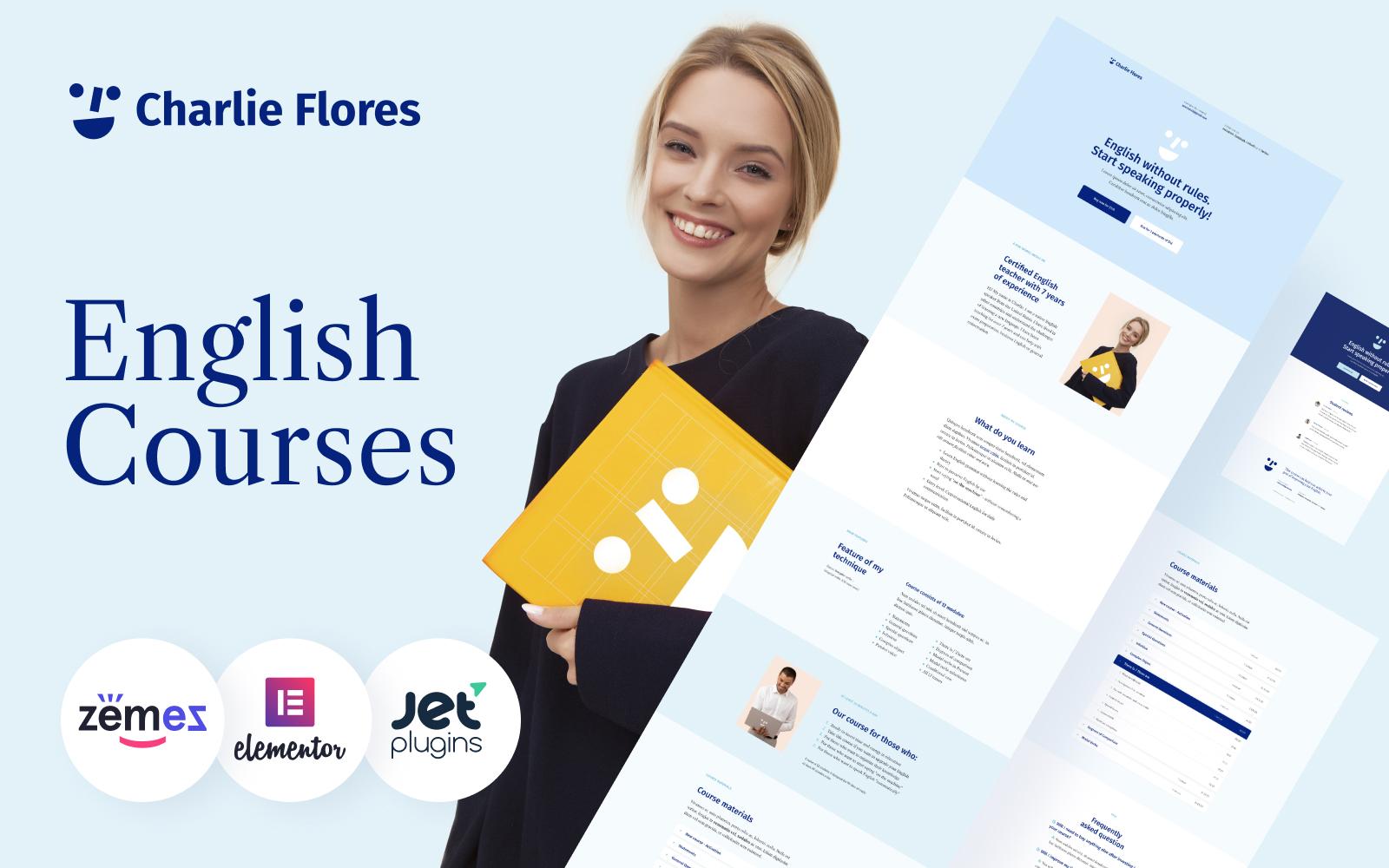 Charlie Flores - Teaching Portfolio Website WordPress Theme