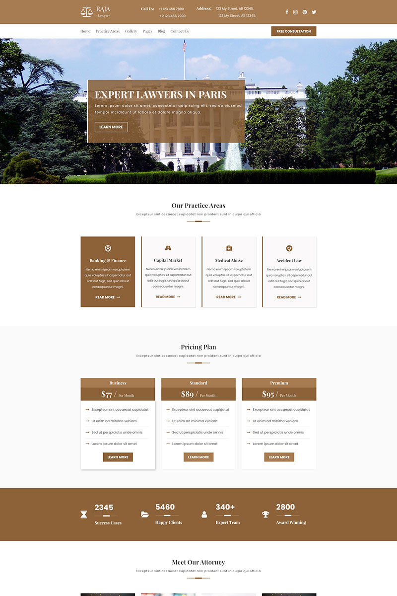AJA | Law and Lawyer PSD Template