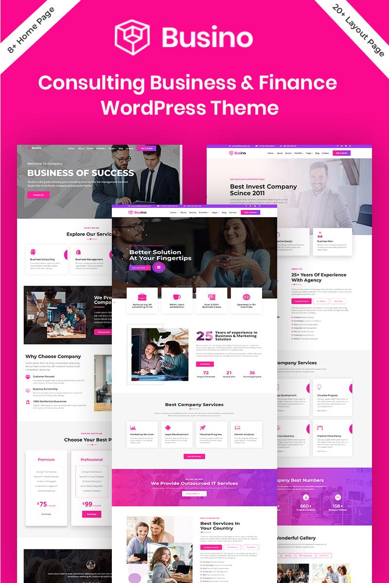 """Busino - Business Consulting & Finance"" thème WordPress adaptatif #98028"