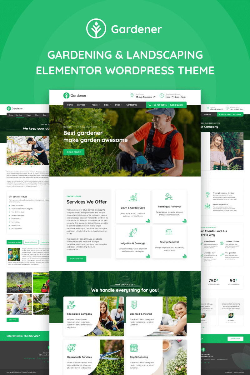 Gardener - Gardening and Landscaping Elementor WordPress Theme