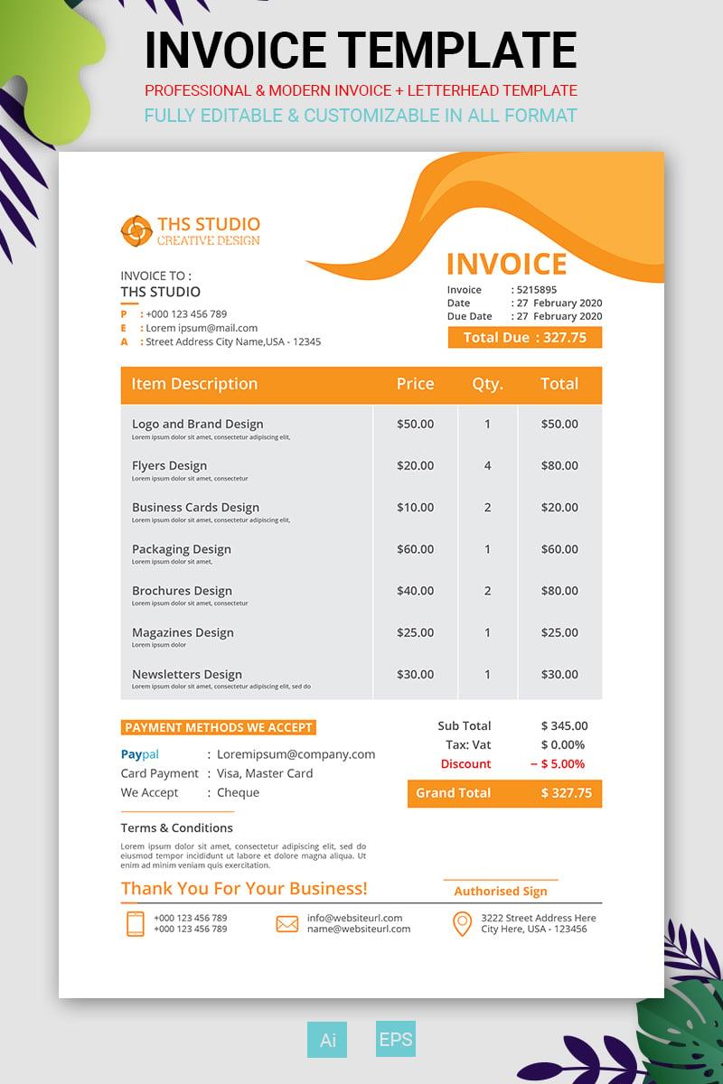 Invoice Corporate Identity Template