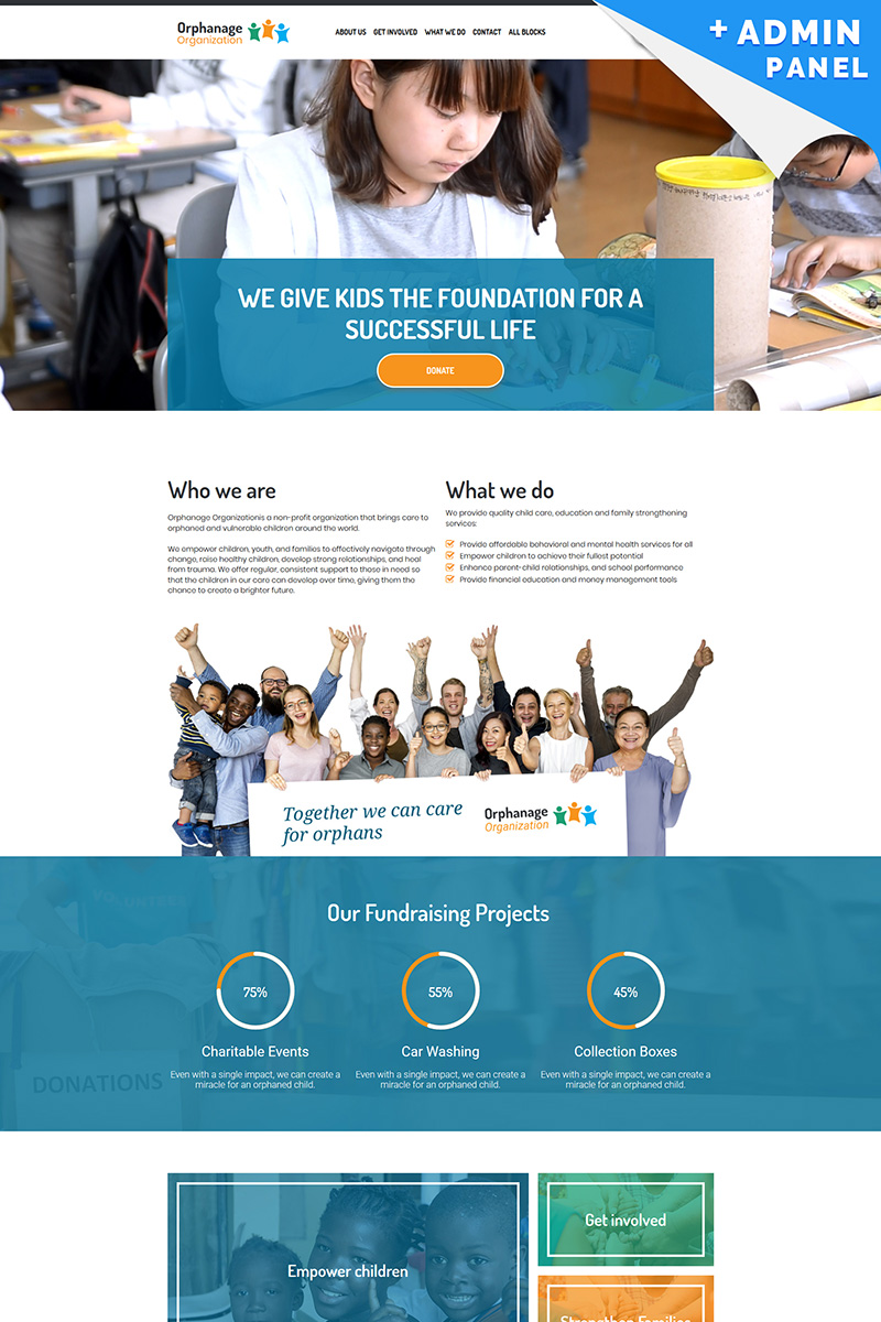 """Landing Page Template namens """"Orphanage - Charity Organization"""" #98032"""