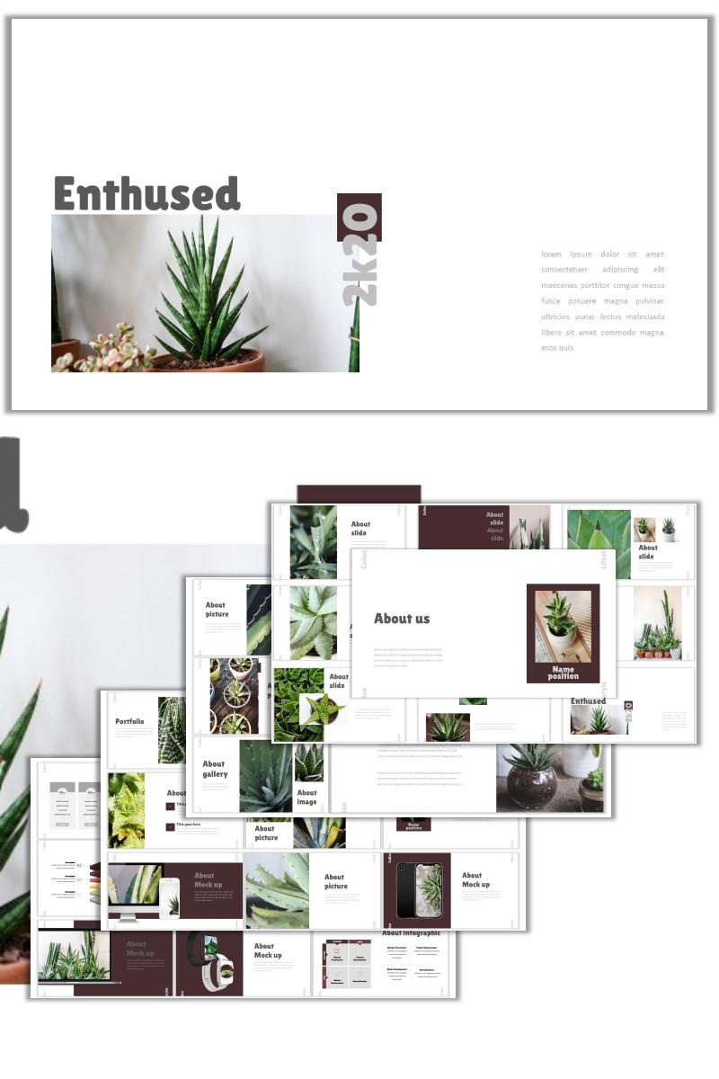 "Plantilla PowerPoint ""Enthused"" #98048"