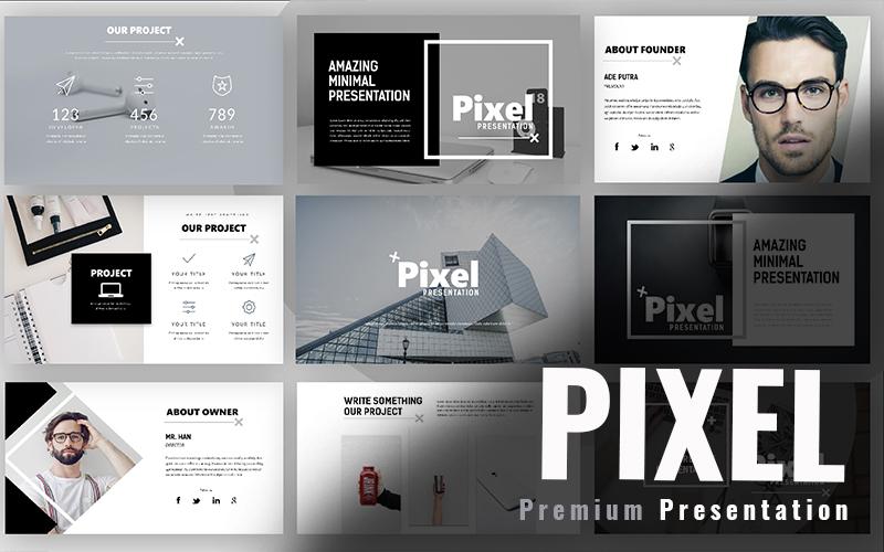 Responsivt Pixel Minimal PowerPointmall #98047