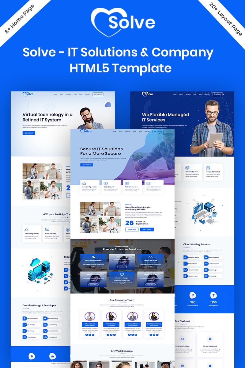Responsivt Solve - IT Solutions & Company  HTML5 Hemsidemall #98021